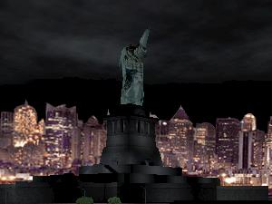 Lady Liberty lost her head!