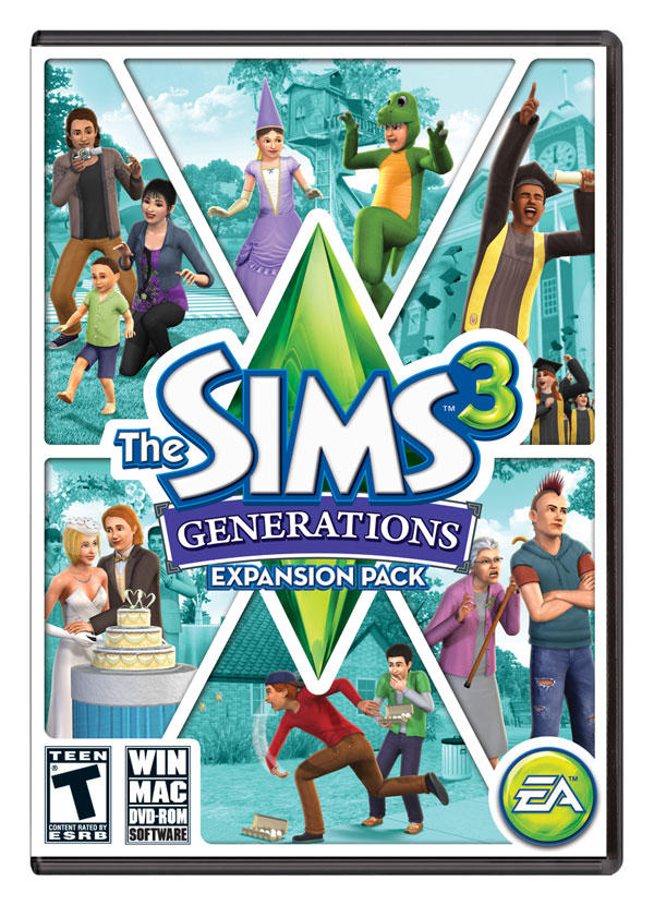 Box art - The Sims 3: Generations,The Sims 3 Generations