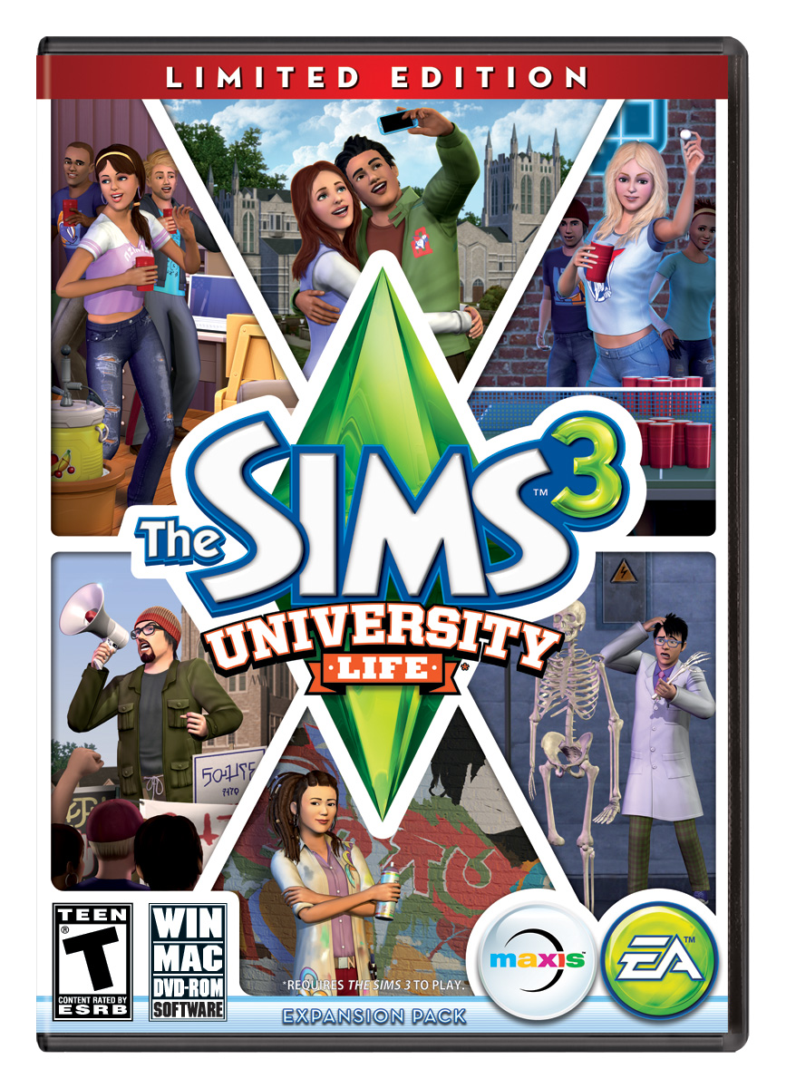 Box art - The Sims 3 University Life
