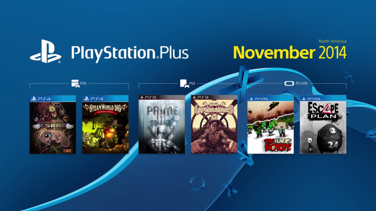 PlayStation Plus' Free Games for November Are