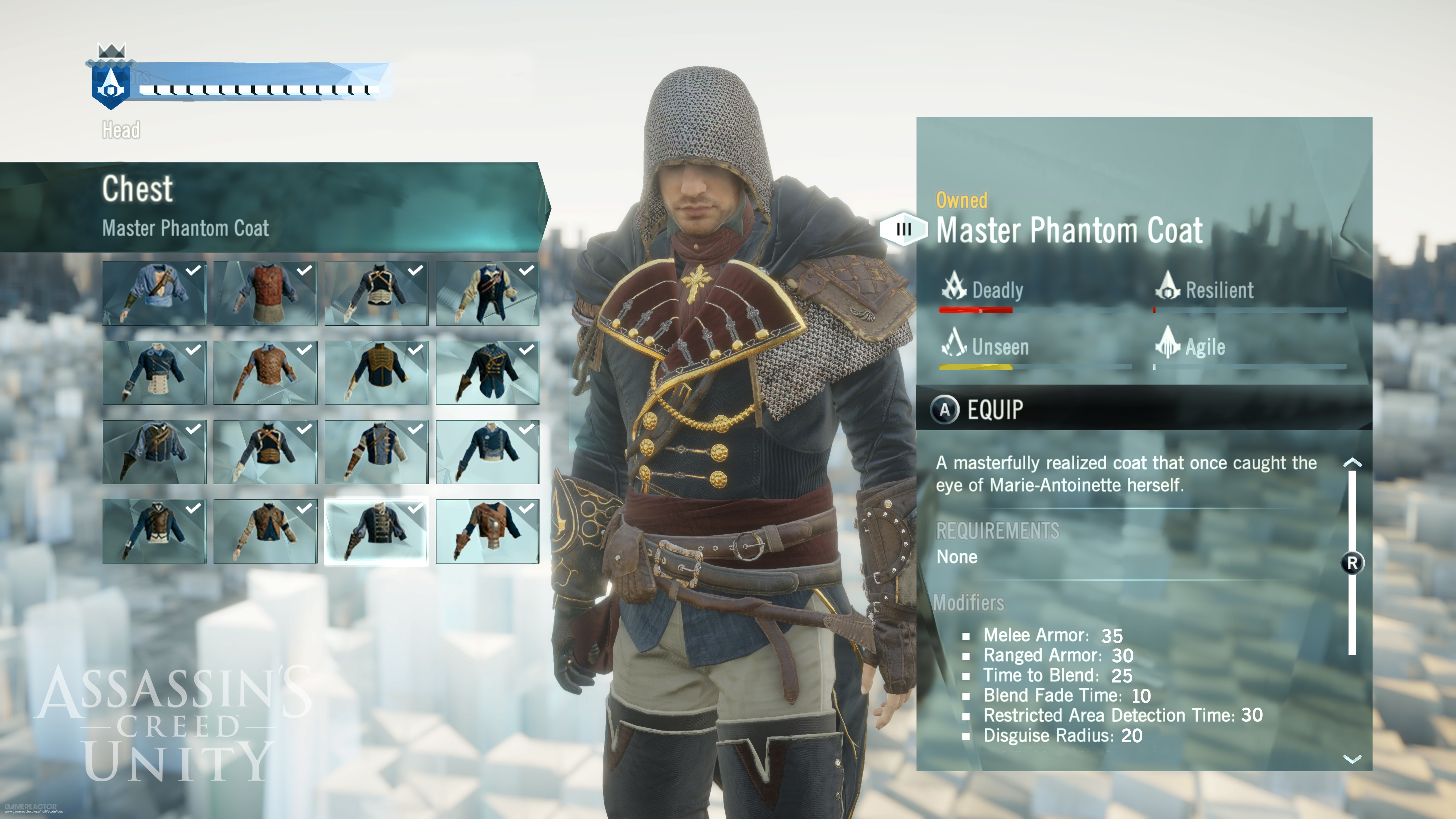 Assassin S Creed Unity Armor Guide Gamerevolution