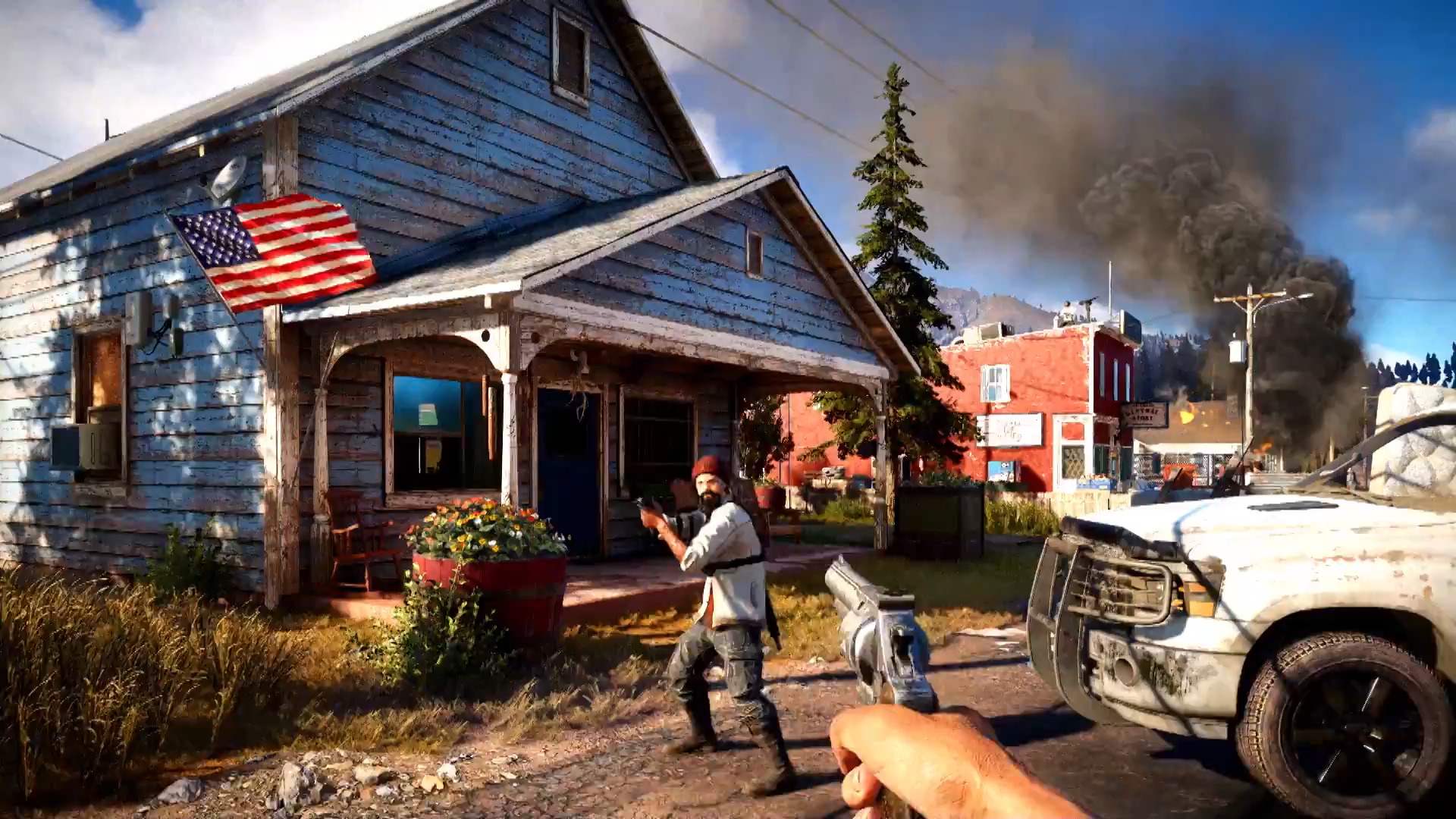 Cultists Get Ran Over By A Tractor In The Latest Far Cry 5