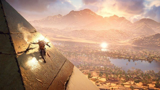 Assassin's Creed Origins Egyptian Pyramid and River Valley