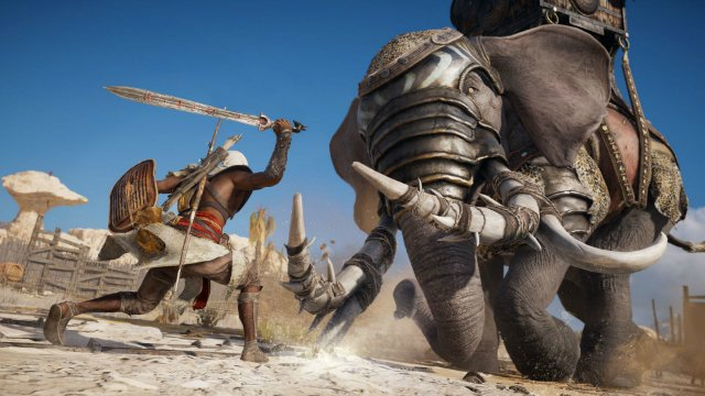 Assassin's Creed Origins Elephant Fight