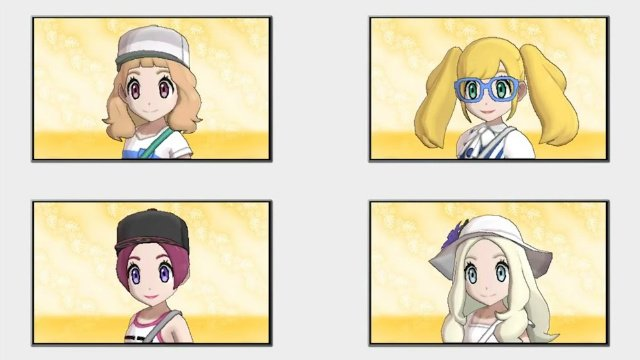 Pokemon Ultra Sun and Ultra Moon Hairstyles