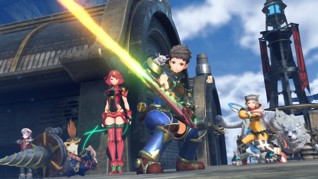 Xenoblade Chronicles 2 Rex and Party