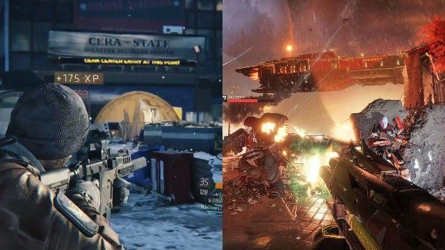 Destiny 2 vs The Division Gameplay