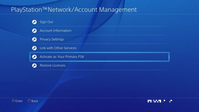 How to Set Primary PS4