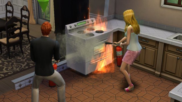 The Sims 4 Extinguishing the Fire