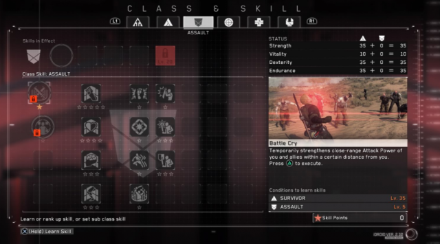 Metal Gear Survive Classes Assault