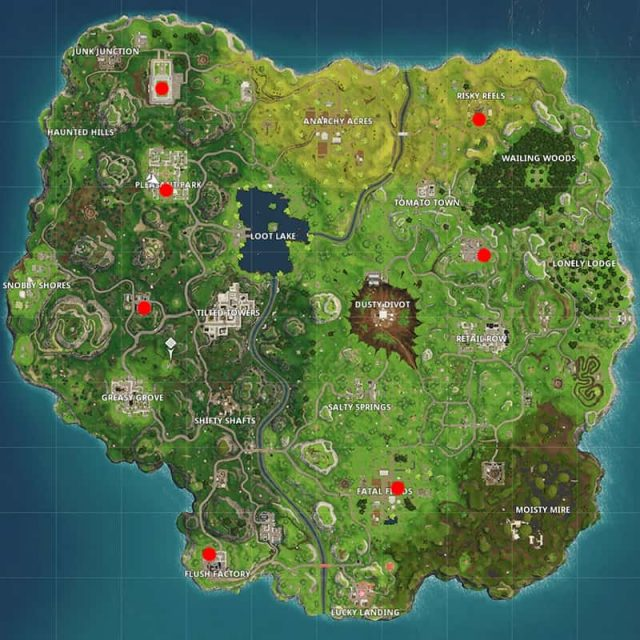 All Soccer Fields in Fortnite