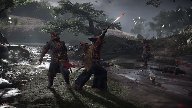 ghost of tsushima exploration and combat video