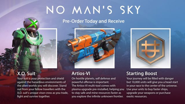 No Man's Sky Xbox One logo head pre order