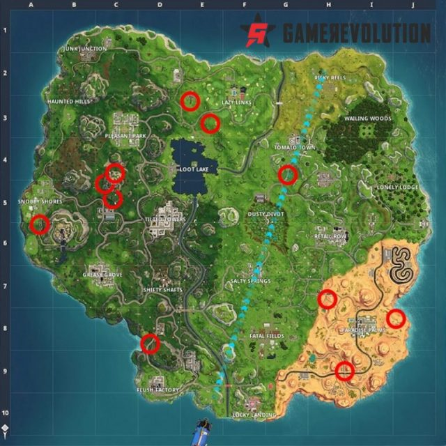 fortnite ring of fire locations