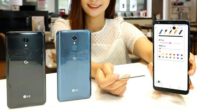 LG Q8 announced with an included stylus right before Samsung's Note 9