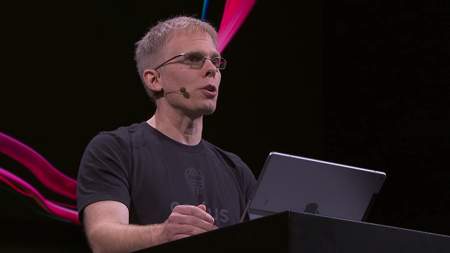 John Carmack revealed the Oculus Quest power during a keynote at Oculus Connect 5.