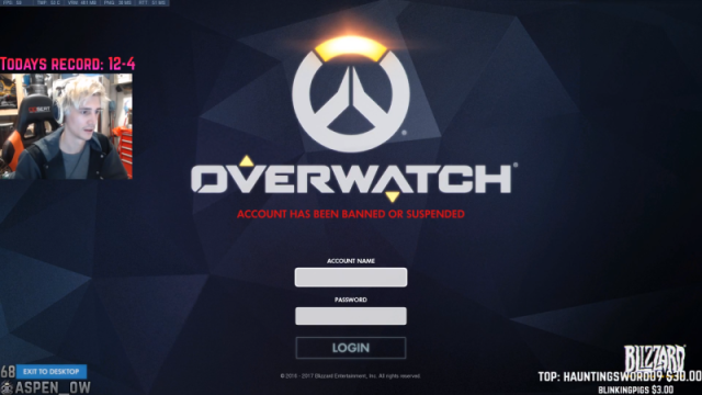 Overwatch PC players banned