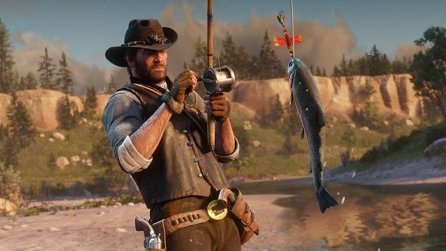 The Red Dead Redemption 2 file size has pushed Arthur Morgan to go fishing for more hard drive space.