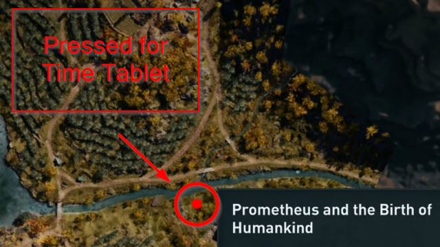 AC Odyssey Pressed for Time Tablet Location