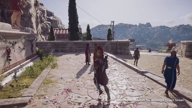 A Screenshot from the Project Stream Asassin's Creed Odyssey video.
