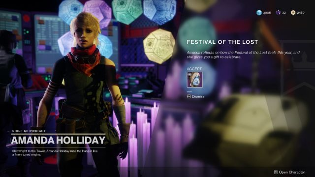 destiny 2 festival of the lost amanda holliday