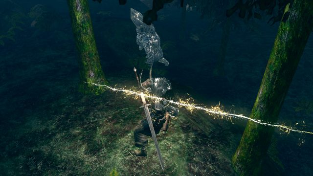 Tossing lightning in Dark Souls Remastered Switch is a lot of fun.