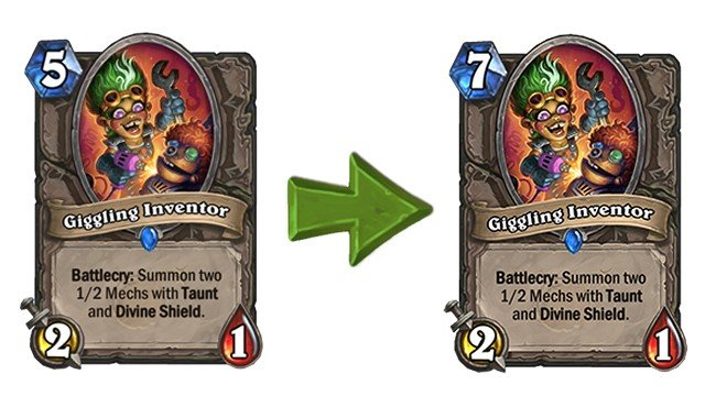 Hearthstone Update 12.3 Patch Notes Giggling Inventor
