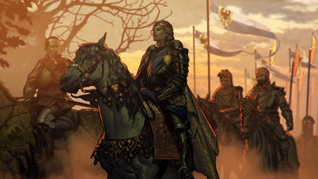 Meve in the new Thronebreaker The Witcher Tales gameplay trailer.