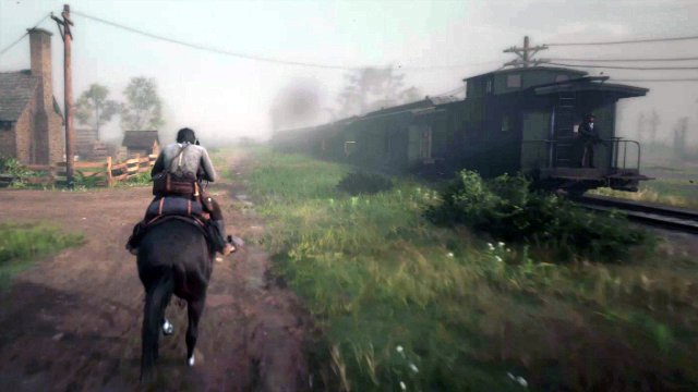 Red Dead Redemption 2 Approaching the Train