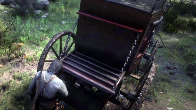 Red Dead Redemption 2 Rob a Stagecoach Lock Box