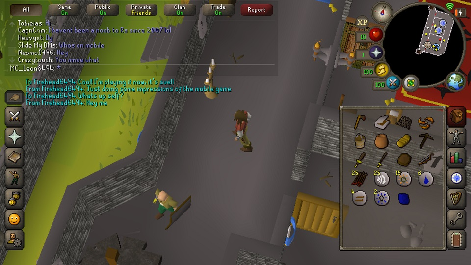 RuneScape Mobile Cross-Platform Play works surprisingly well.