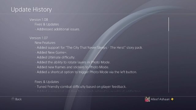 Spider-Man PS4 1.08 Update