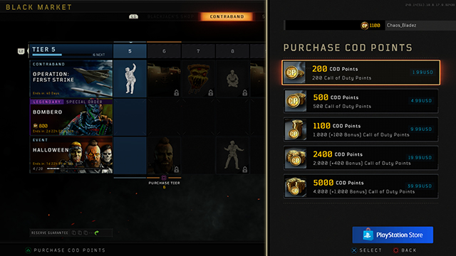 Black Ops 4 COD Points - What to Buy