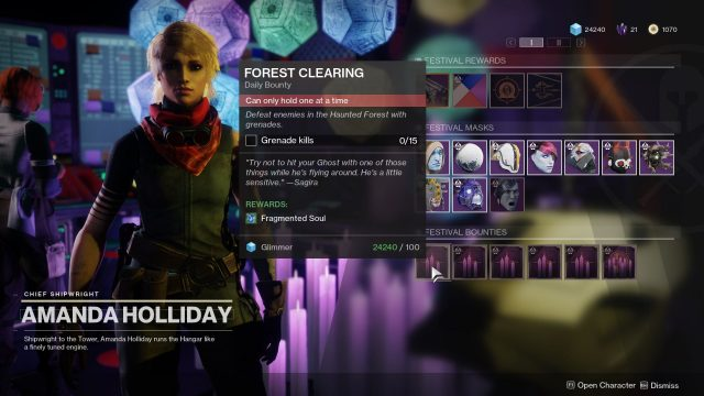 bounties horror story in destiny 2 festival of the lost