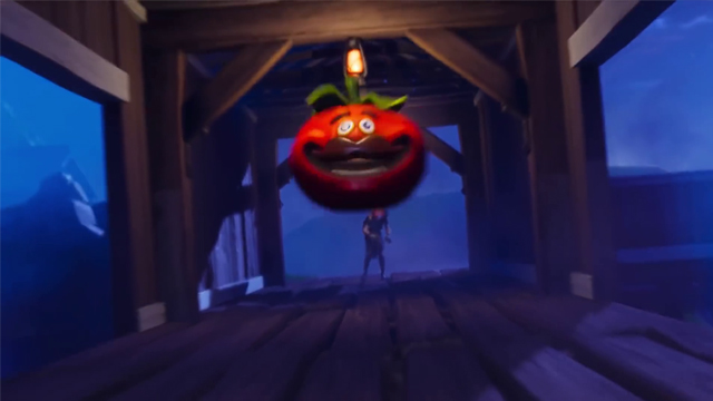 Fortnite Hit a Player With a Tomato