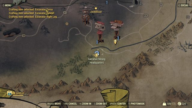 Fallout 76 Excavator Power Armor location