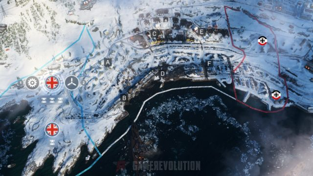 Battlefield 5 Narvik Conquest Map Points