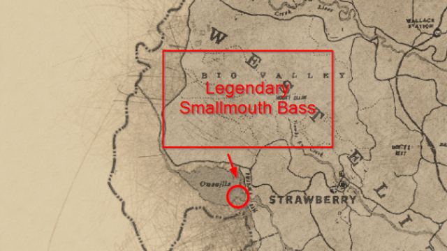 Red Dead Redemption 2 Legendary Smallmouth Bass Location