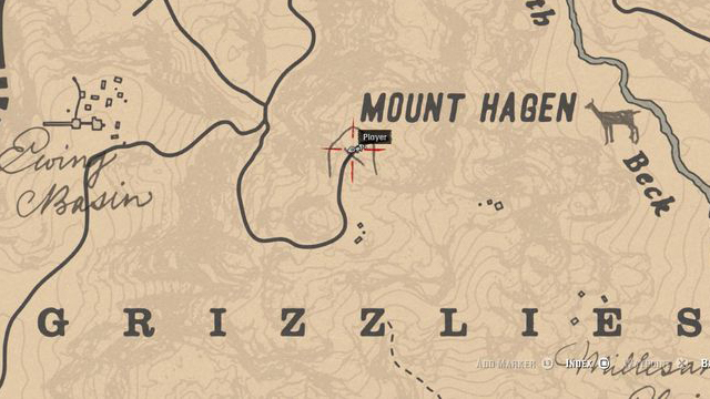 Red Dead Redemption 2 Rock Carvings - Location 2