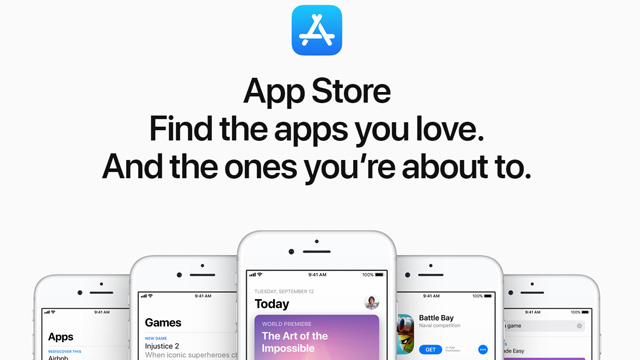 The Apple App Store web page is up.