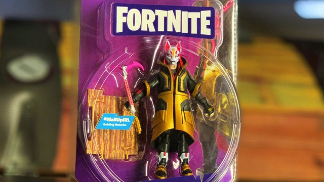 Fortnite toys abound in all directions.