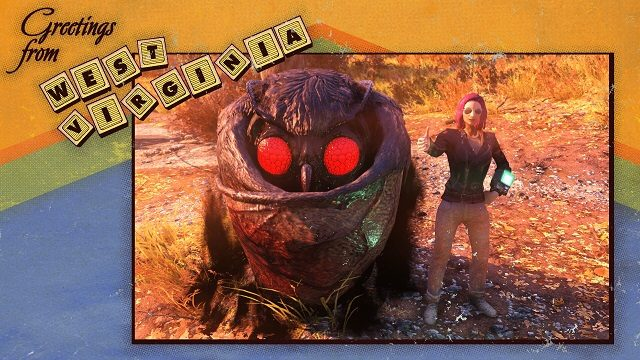Players Have Found Mothman in Fallout 76 , And He Seems Like A Cool Dude