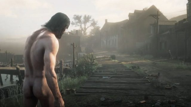 Player Discovers Red Dead Redemption 2 Naked Glitch 2
