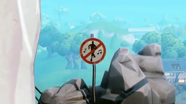 Fortnite Forbidden Dance Locations Map Sign