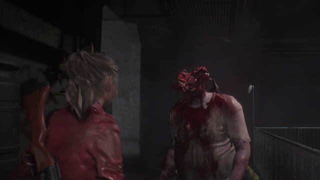 Resident Evil 2 remake review Zombie Head explosion
