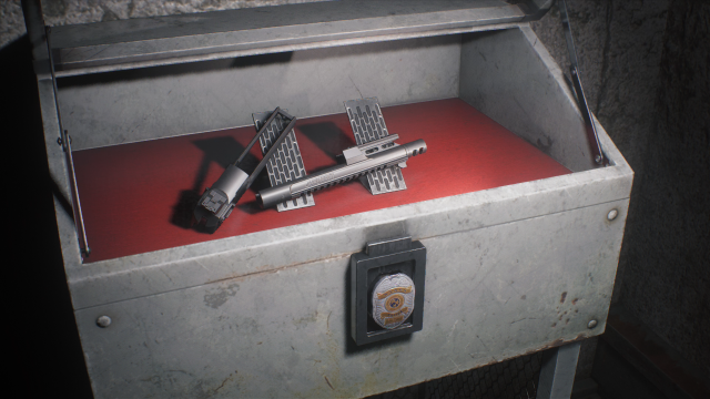 Resident Evil 2 special weapons case unlocked