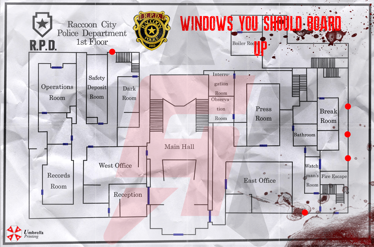Resident Evil 2 Wooden Board Locations What Windows Should I Board