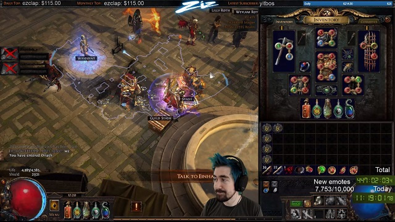 Twitch streaming record broken by Path of Exile Player