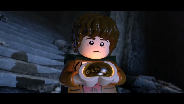 LEGO Lord of the Rings Frodo with the One Ring.