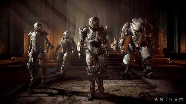 Switch weapons in Anthem